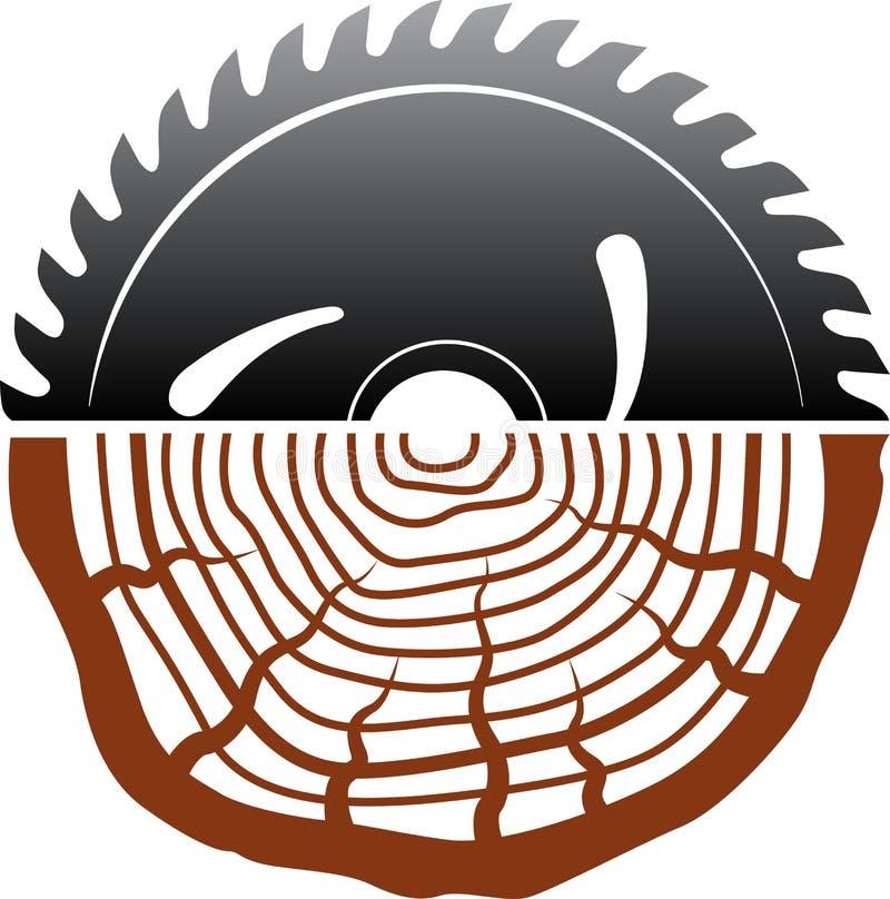 Diseño de madera del logotipo del corte libre illustration