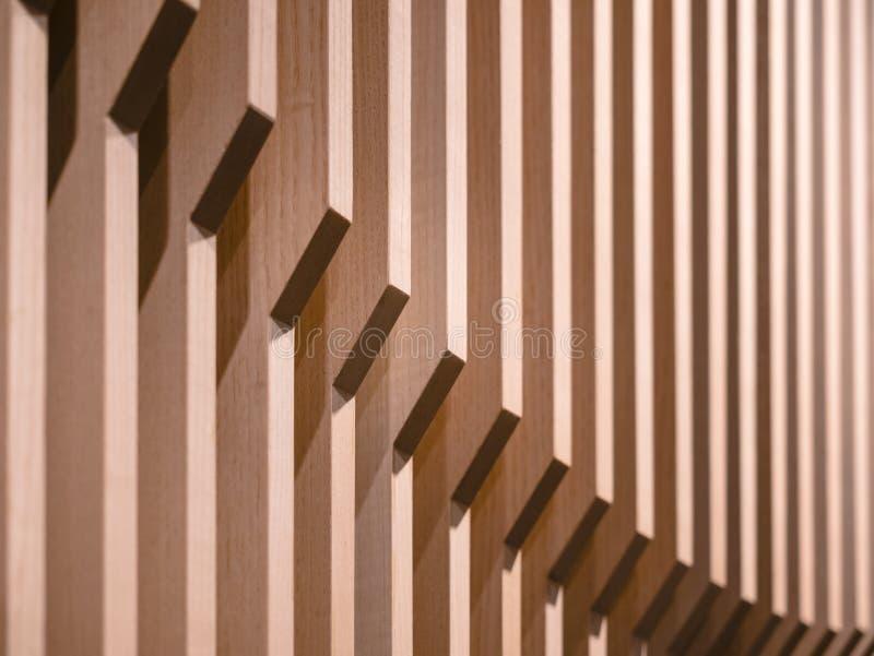 Diseño de madera del modelo de la pared de los detalles de la arquitectura imágenes de archivo libres de regalías