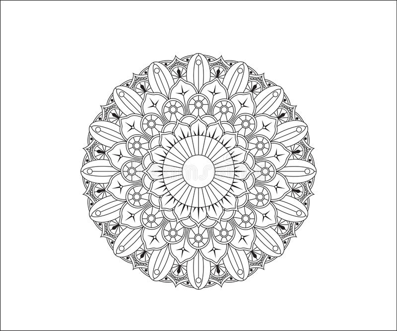 Diseño de Mehendi foto de archivo
