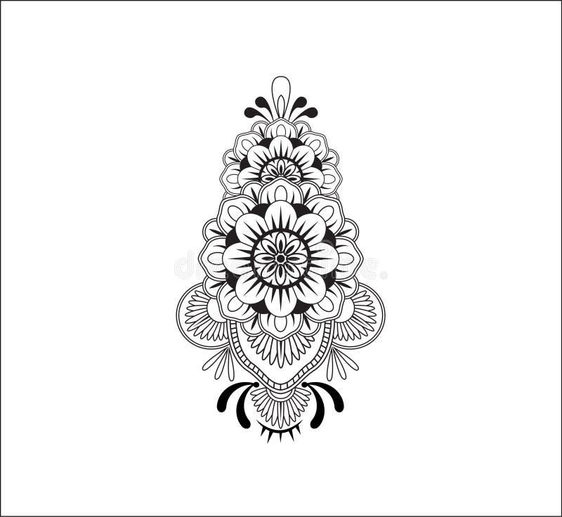 Diseño de Mehndi foto de archivo libre de regalías