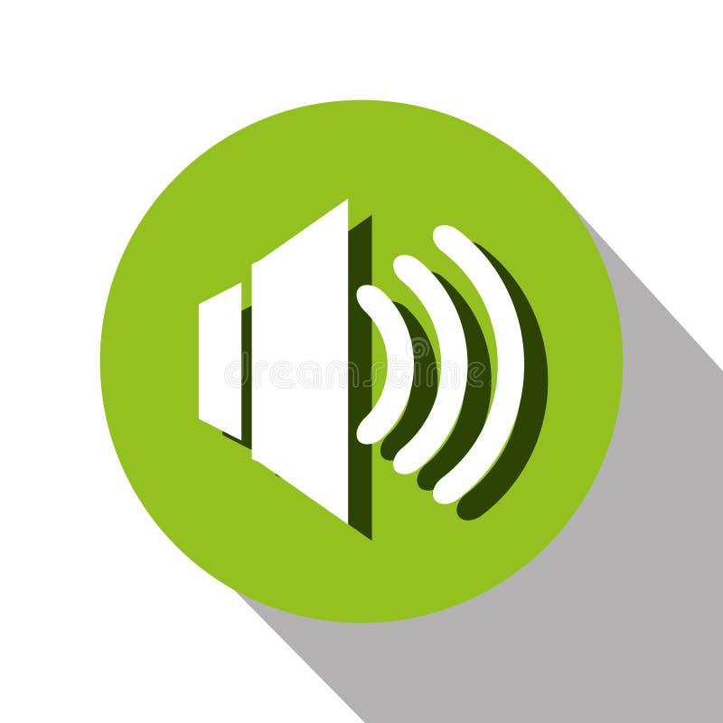 diseño de mensajes de la voz stock de ilustración