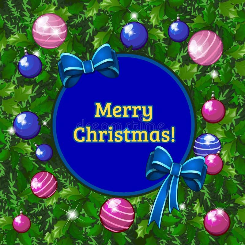 Diseño de muestra de cartel con cualidades del Año Nuevo y de la Navidad Bosquejo del cartel, de la invitación del partido y de o ilustración del vector