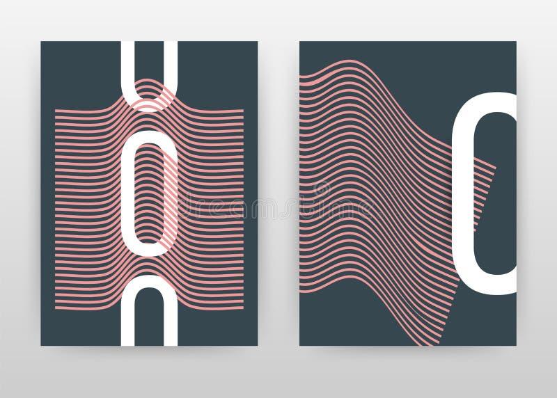 Diseño de negocio geométrico de la letra de O para el informe anual, folleto, aviador, cartel Vector minimalista del fondo de la  ilustración del vector