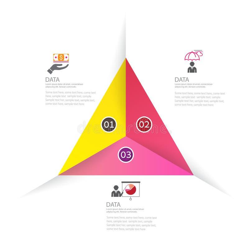 Diseño de negocio moderno del infographics con el banne de 3 opciones de las opciones ilustración del vector