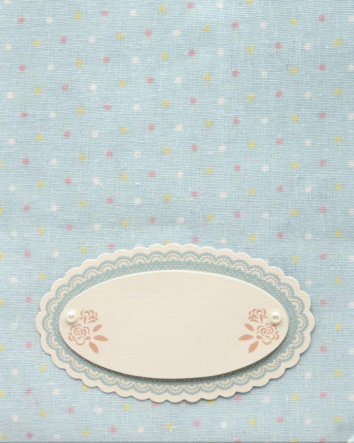 Diseño de página azul retro del álbum de la materia textil fotografía de archivo libre de regalías