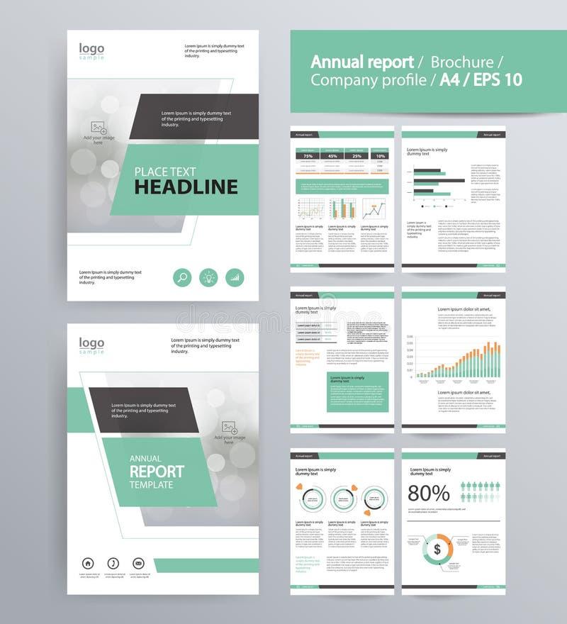 Diseño De Página Para El Perfil De Compañía, El Informe Anual, El ...
