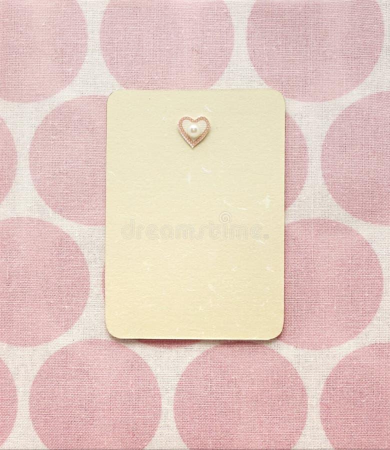 Diseño de página rosado retro del álbum de la materia textil fotografía de archivo libre de regalías