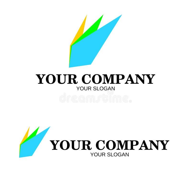Diseño de papel doblado colorido abstracto del logotipo para la compañía libre illustration