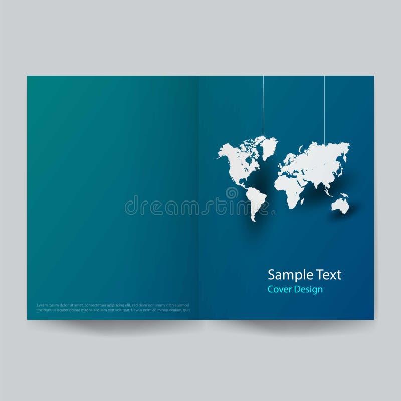 Diseño de papel de la cubierta del negocio global del arte Ilustración del vector stock de ilustración