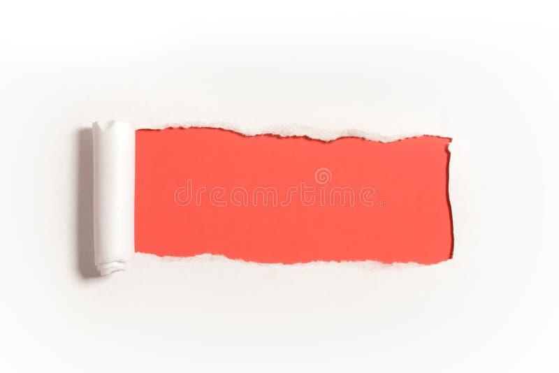 Diseño de papel rasgado con el espacio en blanco foto de archivo