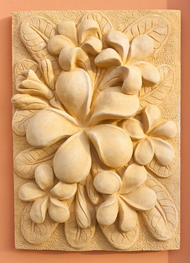 Diseño de piedra del arte del arte del Plumeria imagen de archivo libre de regalías