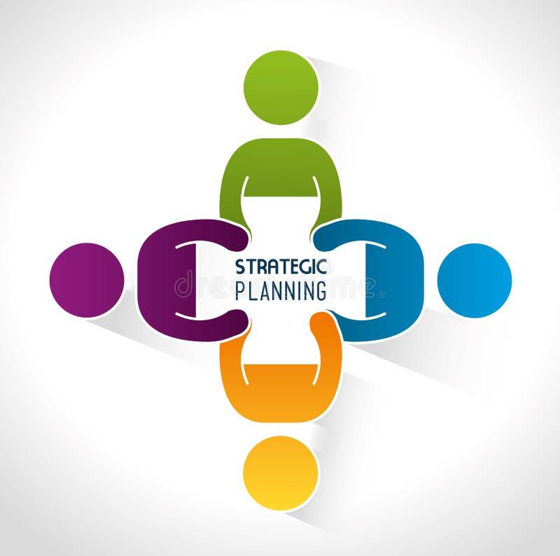 Diseño de planeamiento estratégico libre illustration