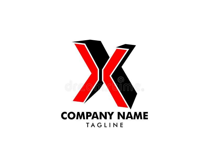 Diseño de plantilla de logotipo de carta inicial X ilustración del vector