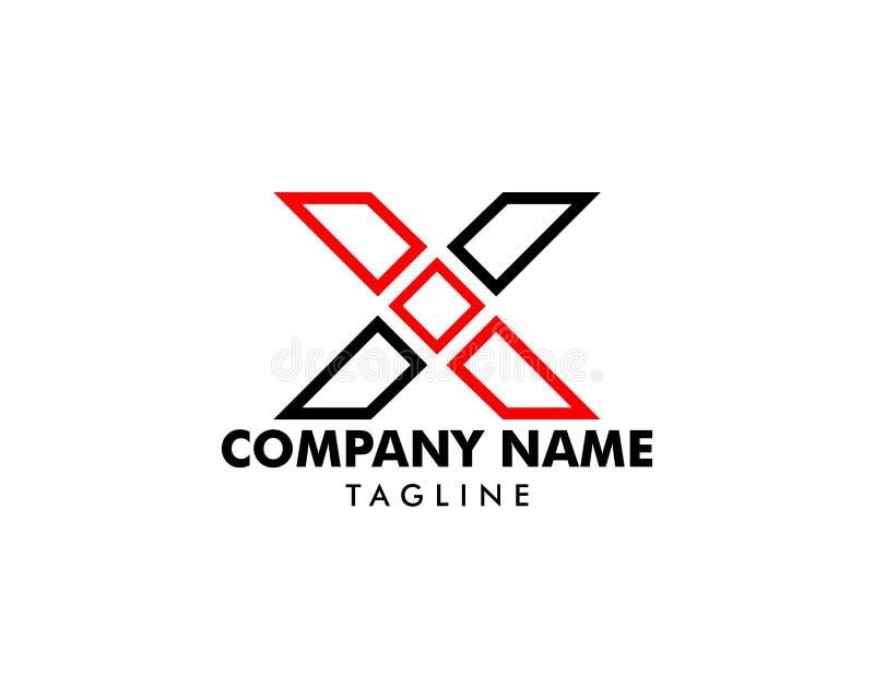 Diseño de plantilla de logotipo de carta inicial X libre illustration