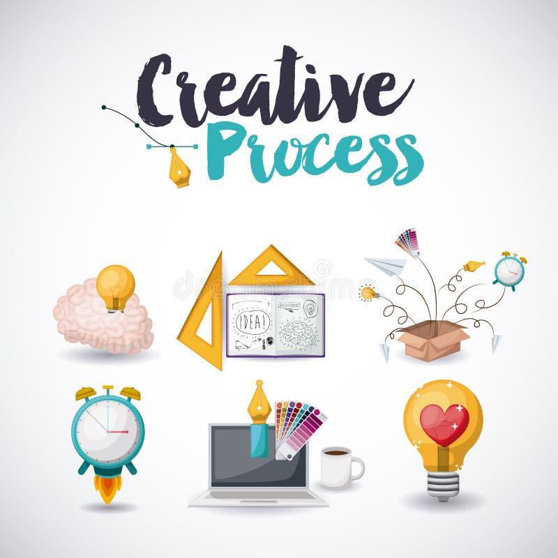 Diseño de proceso creativo libre illustration