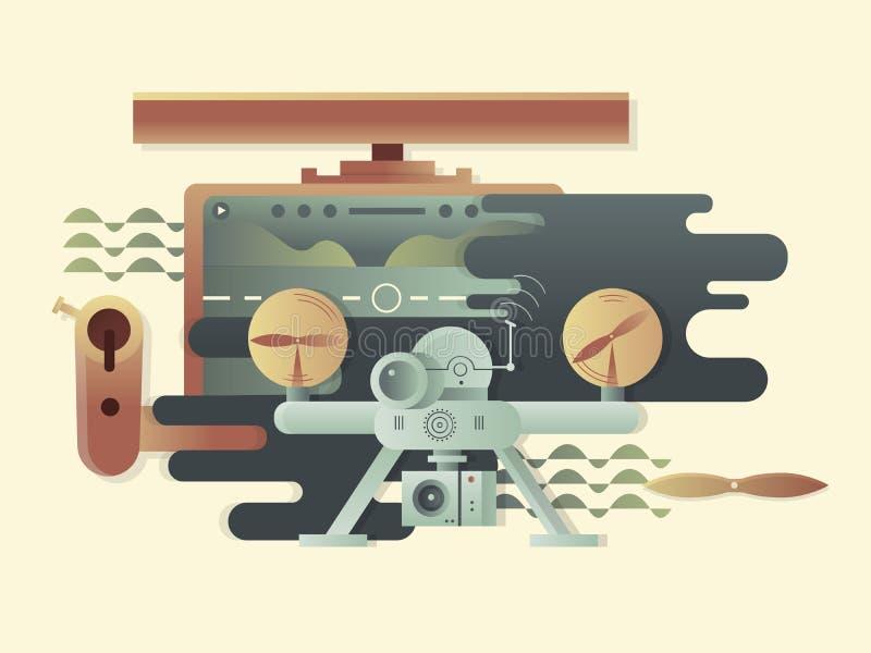 Diseño de Quadrocopters plano libre illustration