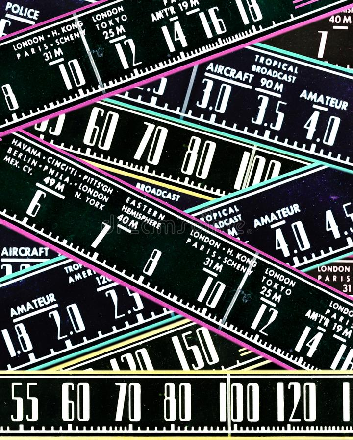 Diseño de radio retro del extracto de los diales fotos de archivo libres de regalías
