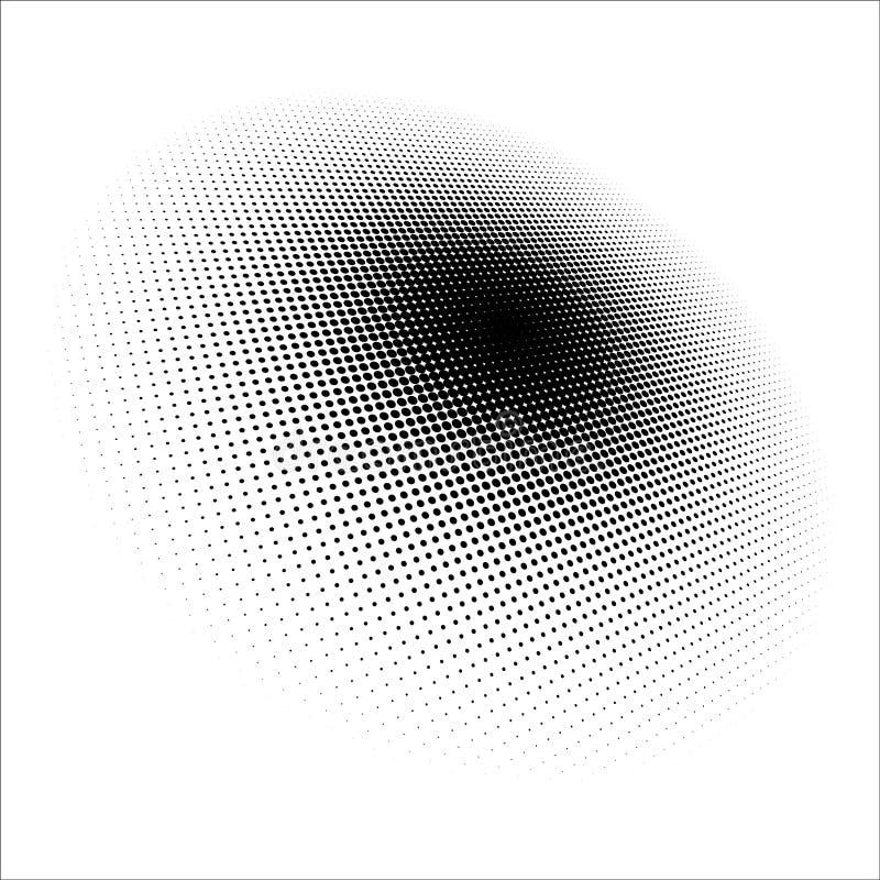 Diseño de semitono de los puntos del modelo de punto Fondo de semitono del vector del modelo, fondo del vector Textura de semiton stock de ilustración