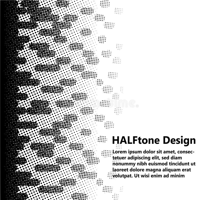 Diseño de semitono monocromático fotografía de archivo libre de regalías
