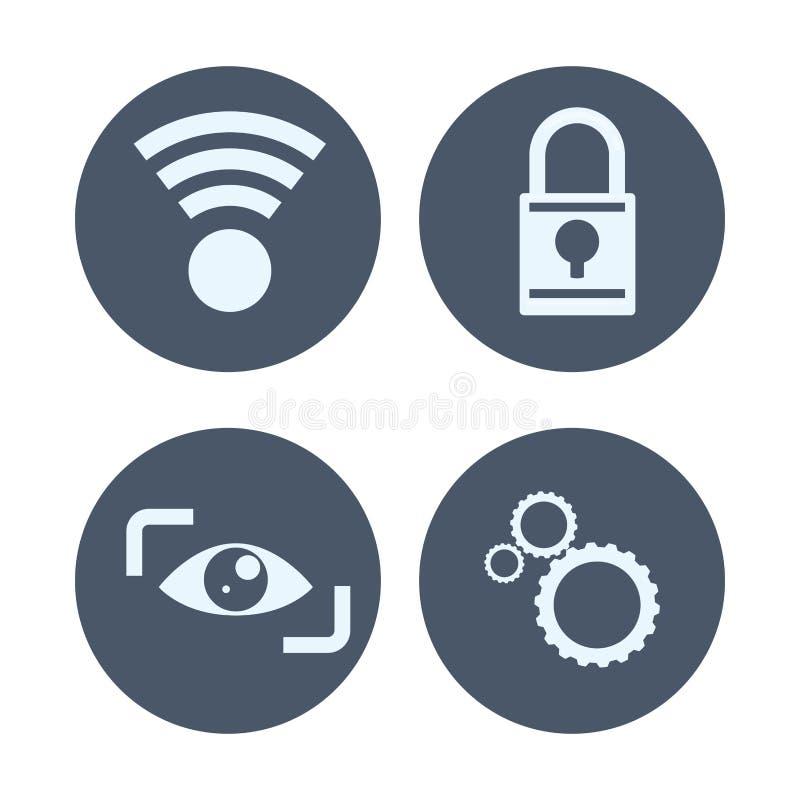 Diseño de sistema de seguridad libre illustration