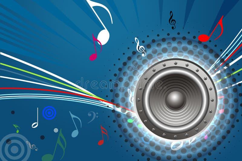 Diseño de sistema de sonido stock de ilustración