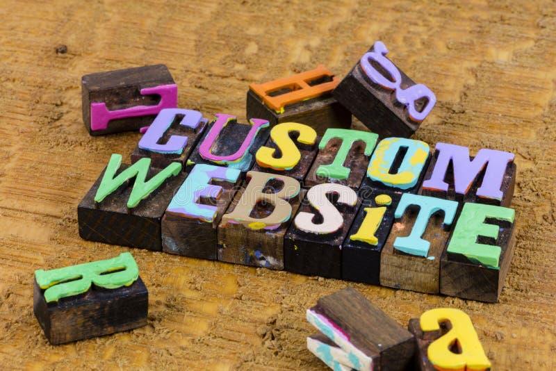 Diseño de software de Internet de sitio web personalizado fotos de archivo
