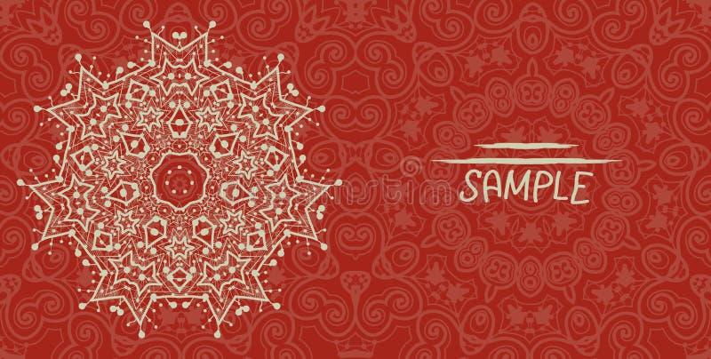 Diseño de tarjeta de la boda o de la invitación hecho de tribal libre illustration