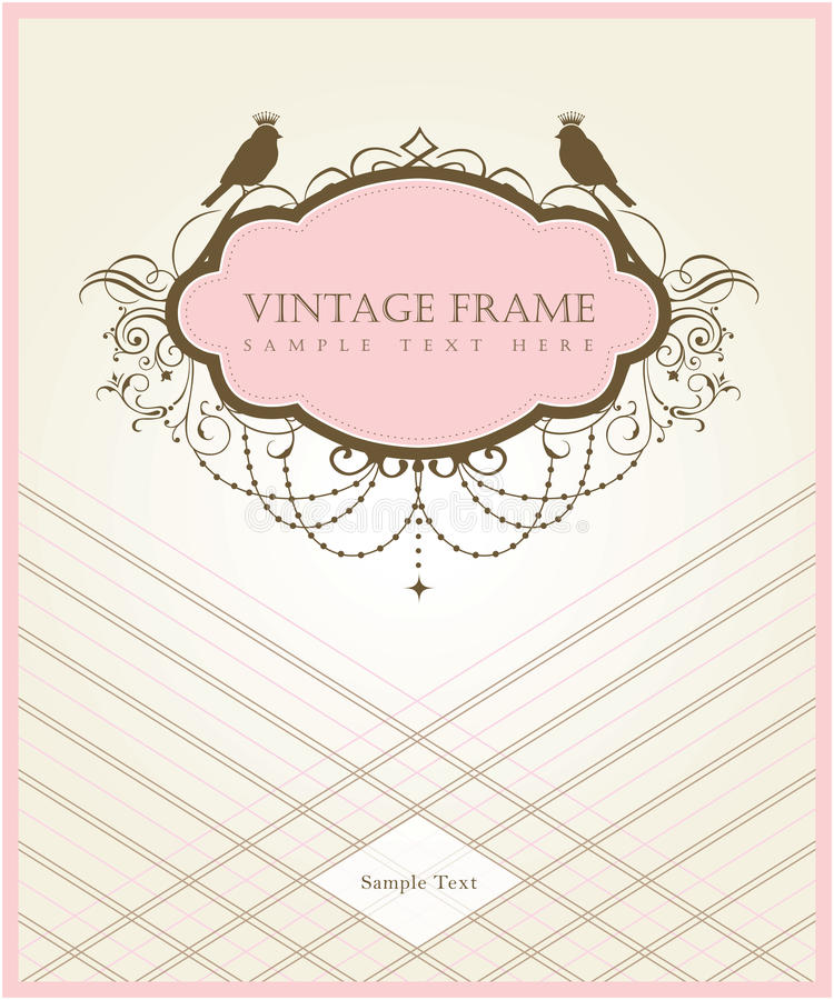 Diseño de tarjeta de la vendimia stock de ilustración