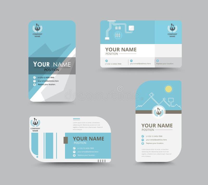 Diseño de tarjeta de presentación del negocio para la sociedad Carde el modelo Vector stock de ilustración