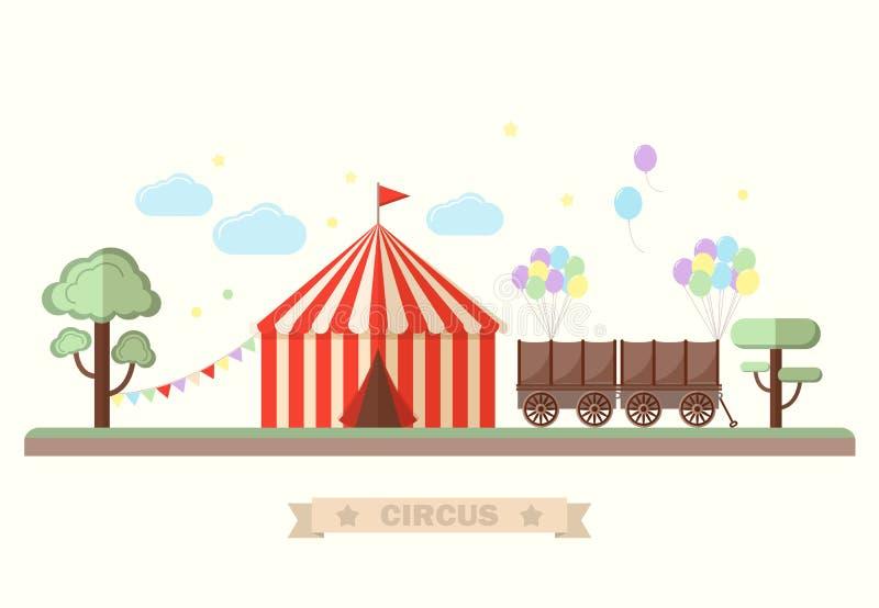 Diseño de tarjeta del circo libre illustration