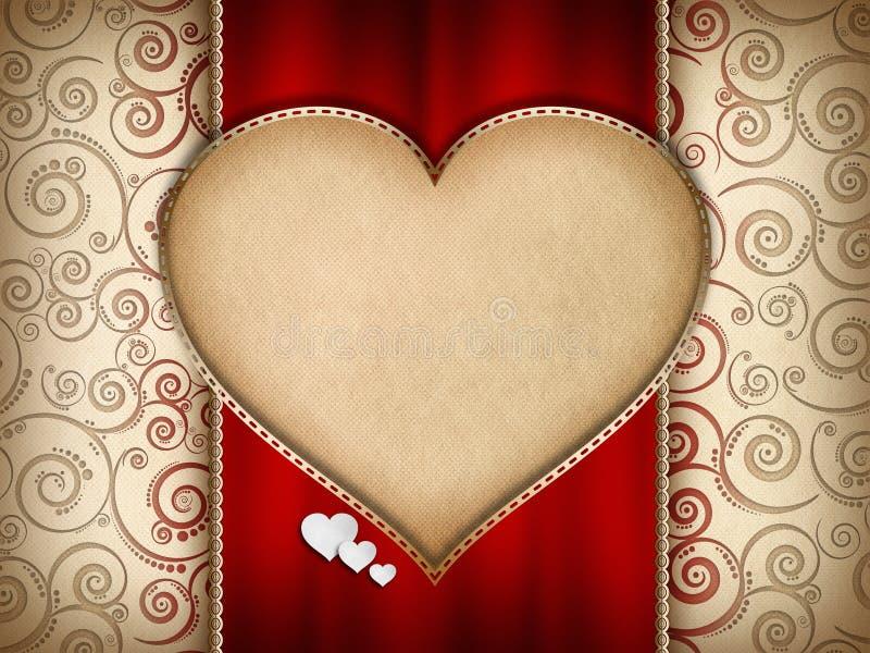 Diseño de tarjeta del día de tarjetas del día de San Valentín stock de ilustración
