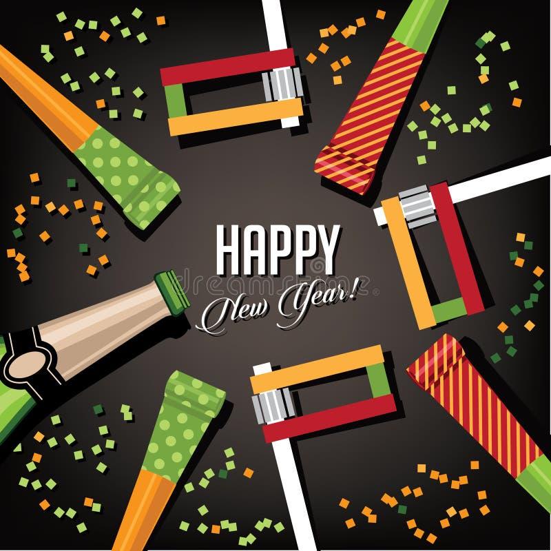 Diseño de tarjeta del fondo de la Feliz Año Nuevo ilustración del vector