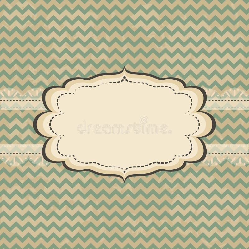 Diseño de tarjeta del vintage ilustración del vector