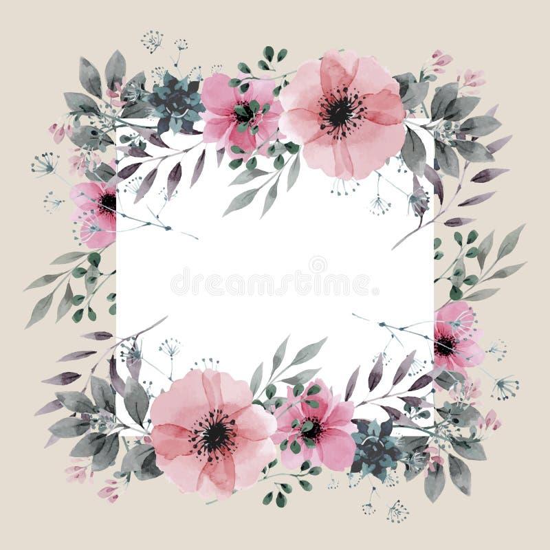 Diseño de tarjeta floral de la invitación ilustración del vector