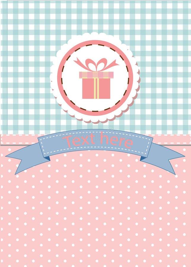Diseño de tarjeta para saludar, el cumpleaños, la invitación y el partido imagen de archivo