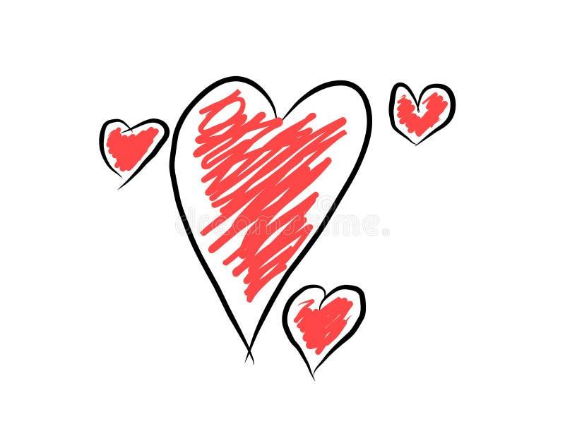 Diseño de tres amores para la decoración de la tarea del diario de Clipart o la decoración de papel del planificador del cojín fotos de archivo