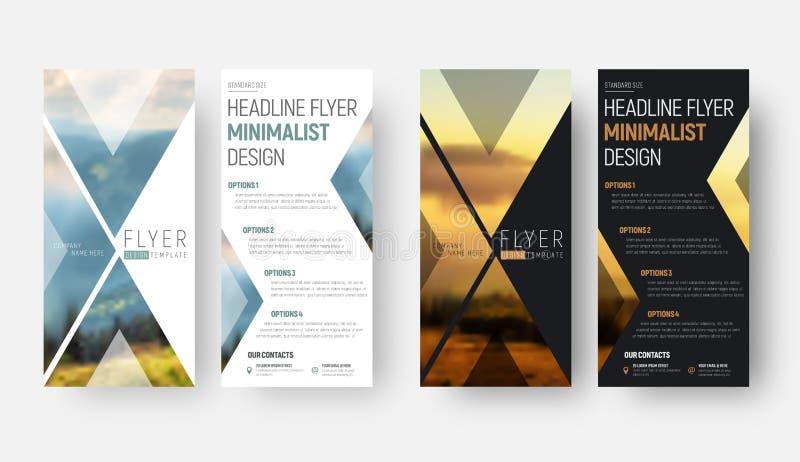 Diseño de un aviador del vector en un estilo minimalista con un lugar stock de ilustración