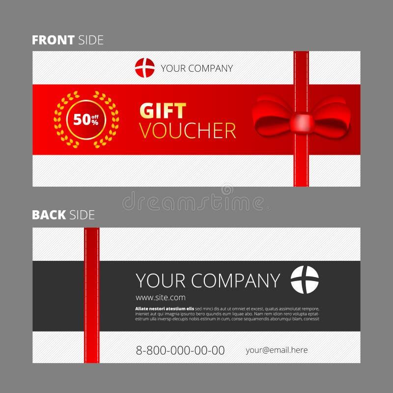 Diseño de vale y de chèque-cadeaux libre illustration