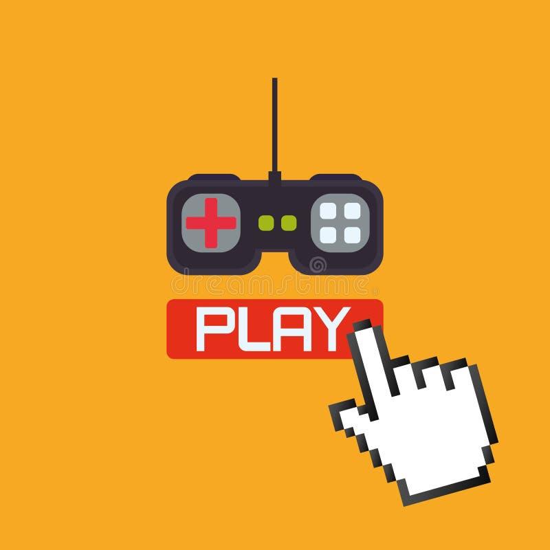 Diseño de videojuegos stock de ilustración