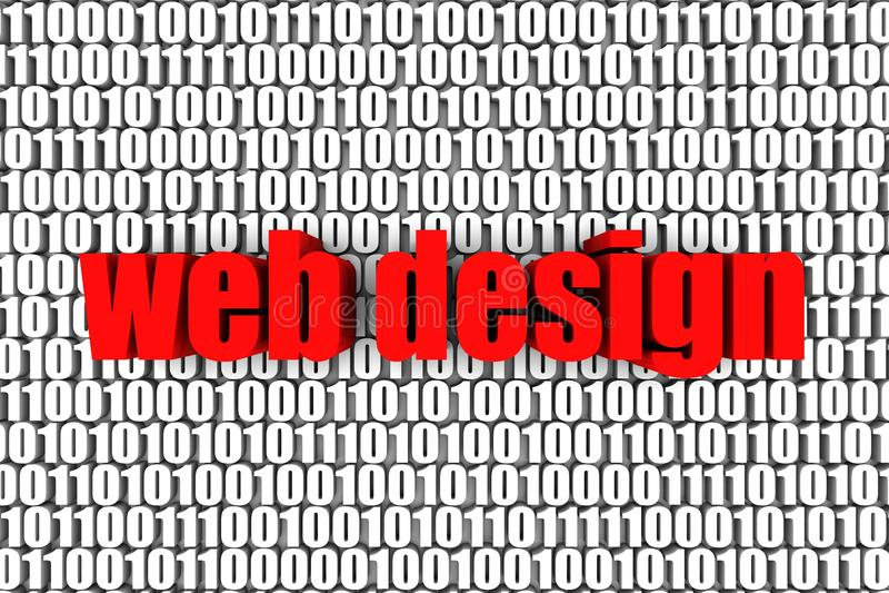 Diseño de Web stock de ilustración