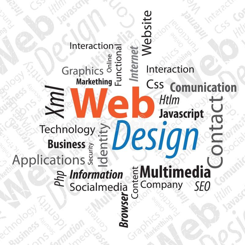 Diseño de Web de la tipografía ilustración del vector
