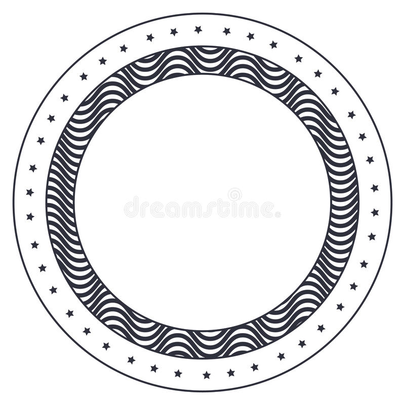 Diseño Decorativo Aislado Del Marco Del Círculo Ilustración del ...