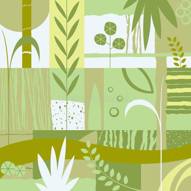 Diseño decorativo con las plantas libre illustration