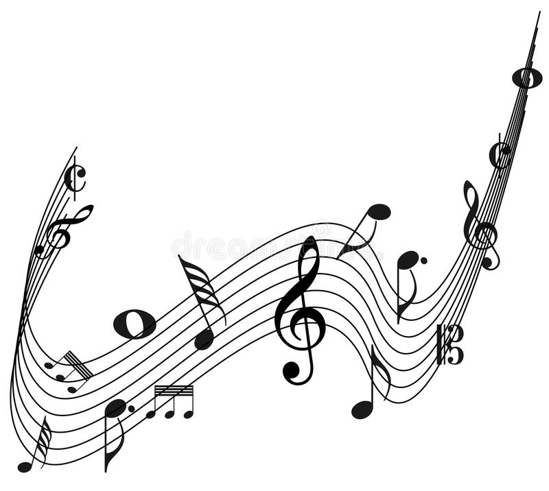 Diseño decorativo de la nota de la música ilustración del vector