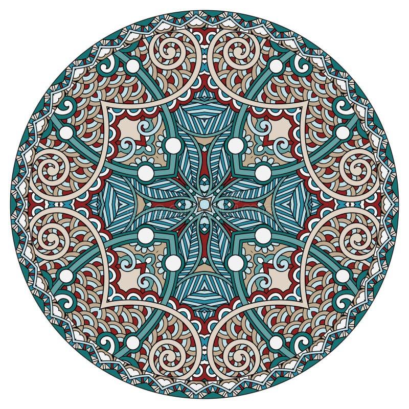Diseño decorativo de plantilla del plato del círculo, redondo stock de ilustración