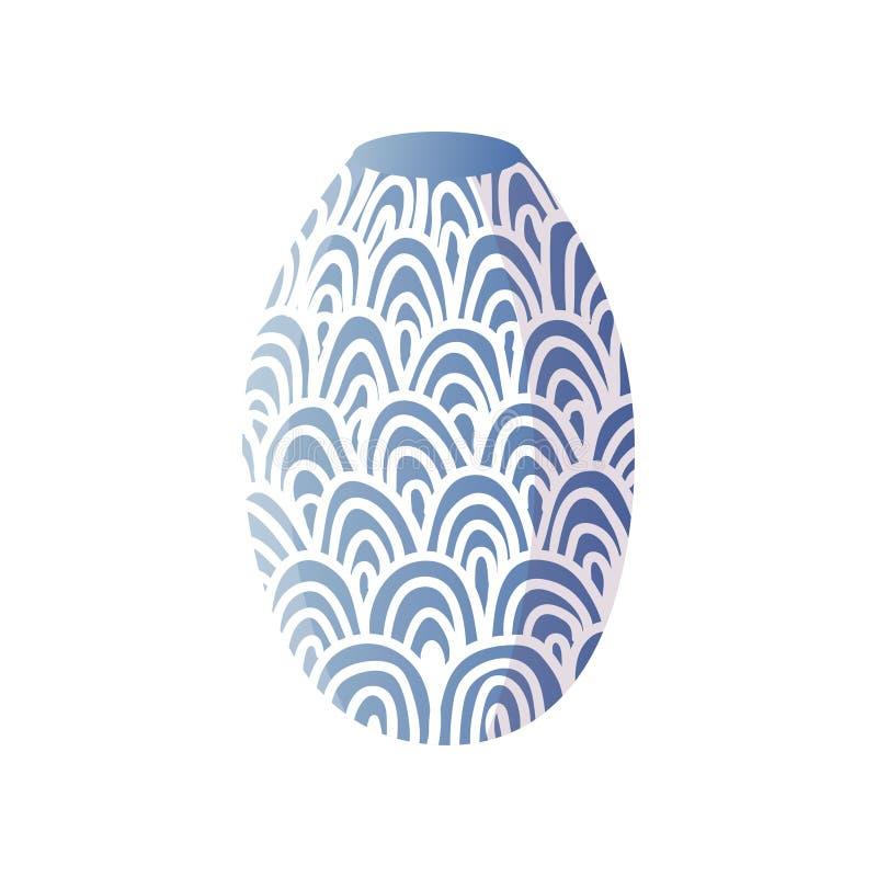 Diseño decorativo especial del florero azul ornamental del sitio stock de ilustración