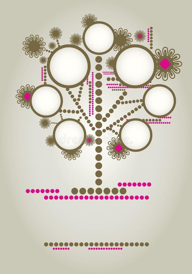 Diseño del árbol de familia del vector con los marcos stock de ilustración