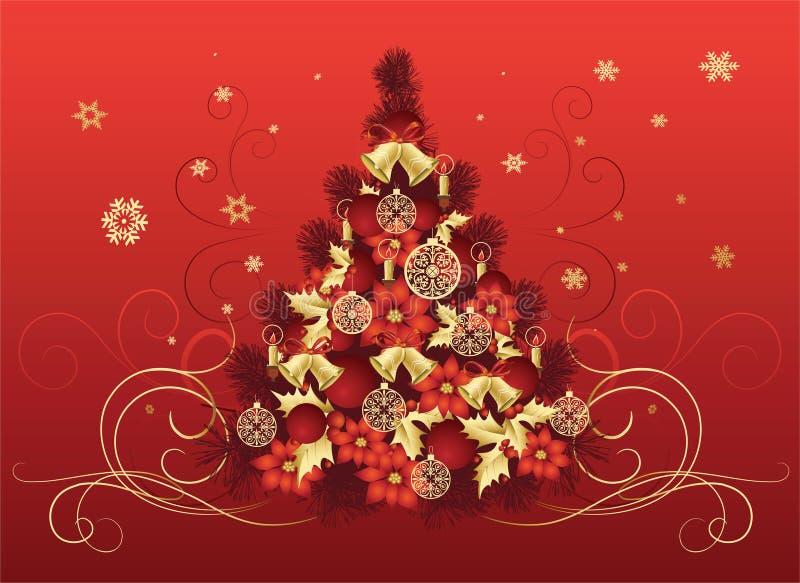 Dise o del rbol de navidad ilustraci n del vector - Arbol navidad diseno ...