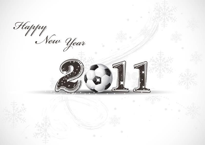 Diseño del Año Nuevo 2011 ilustración del vector