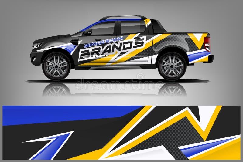 Diseño del abrigo del camión Abrigo, diseño de la etiqueta para la compañía Formato del vector - vector libre illustration